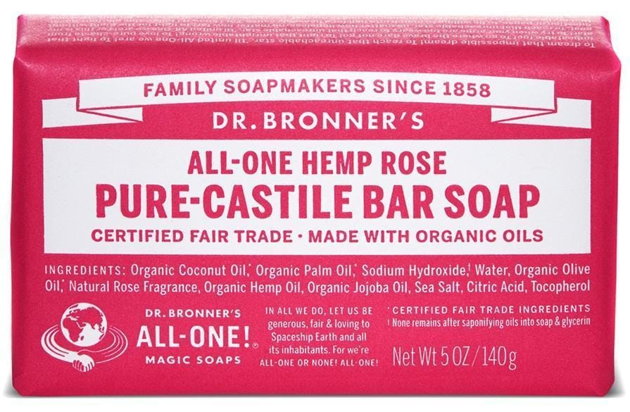 Dr. Bronner's Magic Soap Rose Castile Bar Soap