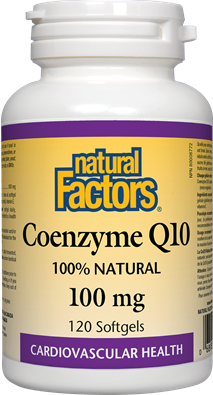 Natural Factors Coenzyme Q10 100 mg 120 Softgels