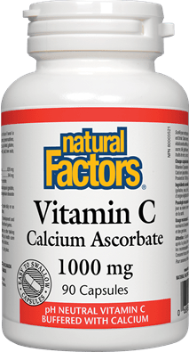 Natural Factors Vitamin C - Calcium Ascorbate 1000 mg 90 Capsules