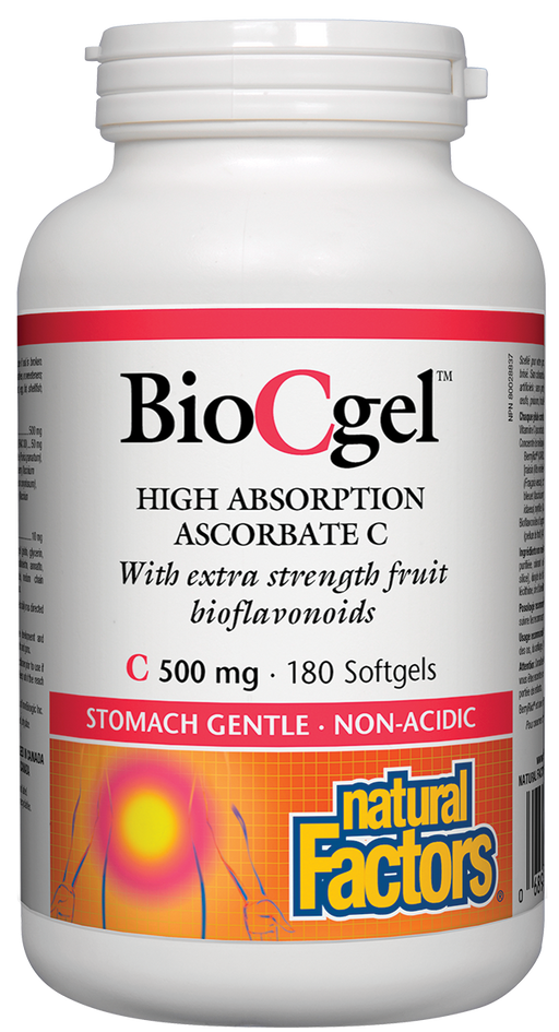 Natural Factors BioCgel Absorption Ascorbate C 500 mg 180 Softgels