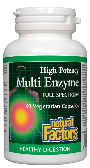 Natural Factors Multi Enzyme Full Spectrum 60 Capsules