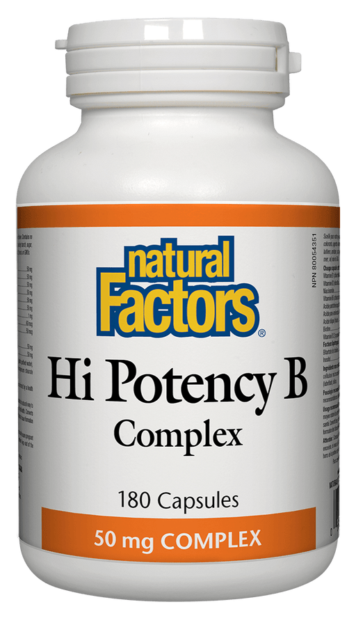 Natural Factors Hi Potency B Complex 50 mg 180 Capsules