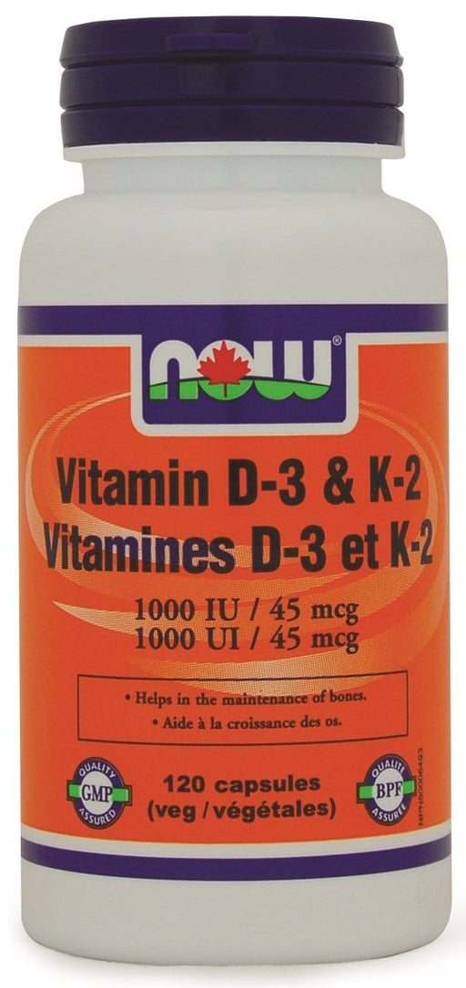 NOW Vitamin D-3 and K-2