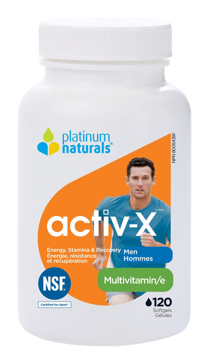 Platinum Naturals Activ-X Multivitamin for Men 120 Capsules