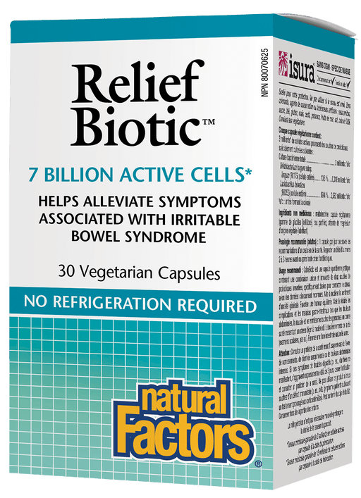 Natural Factors Relief Biotic 7 Billion Active Cells 30 Capsules