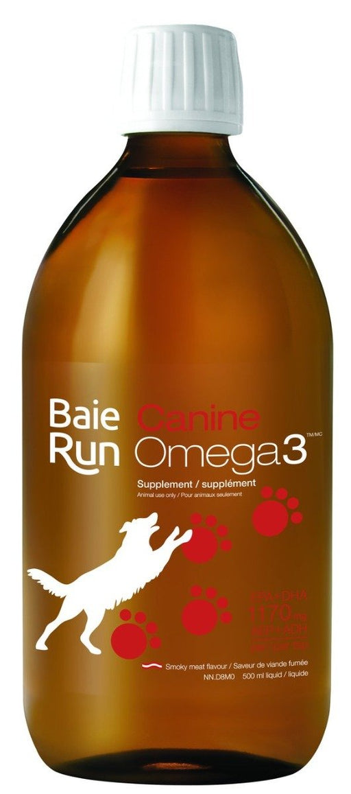 Baie Run Canine Omega 3 1170 mg EPA+DHA Smoky Meat Flavour 500 ml