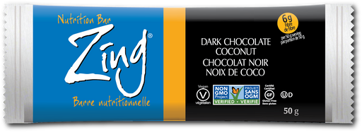 Zing Nutrition Bar - Dark Chocolate Coconut