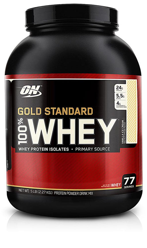 Optimum Nutrition Gold Standard 100% Whey - Vanilla Ice Cream 5 lb