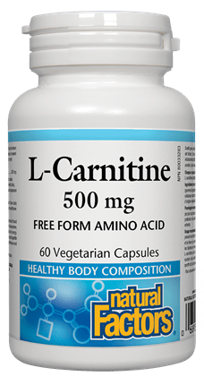 Natural Factors L-Carnitine 500 mg 60 Capsules