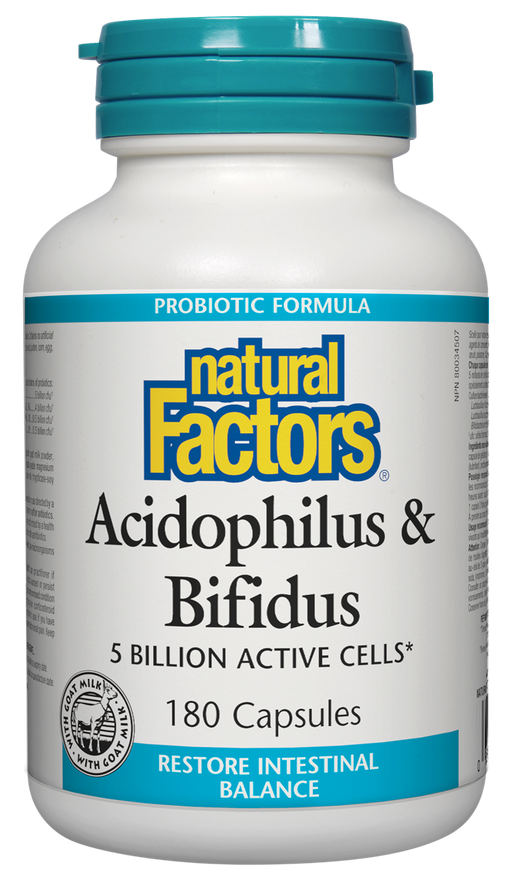 Natural Factors Acidophilus & Bifidus 180 Capsules
