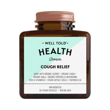 Well Told Health Cough Relief 508 mg 60 V-Caps