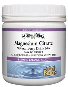 Natural Factors Magnesium Citrate 250g Powder - Berry Flavour