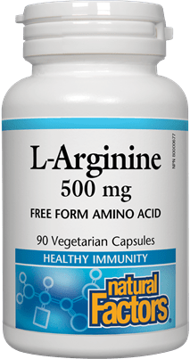 Natural Factors L-Arginine 500 mg 90 Capsules