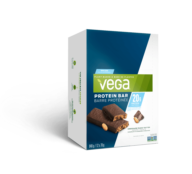 Vega 20 g Protein Bar Chocolate Peanut Butter Box of 12 (Short Dated)