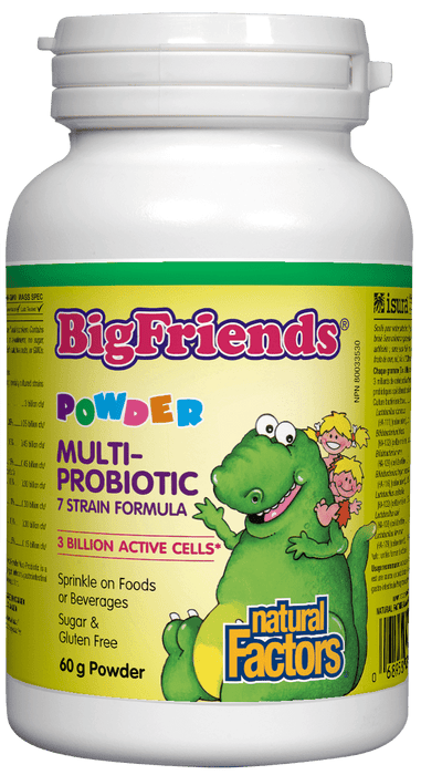 Natural Factors Big Friends Powder Multi-Probiotic 7 Strain Formula 3 Billion Active Cells