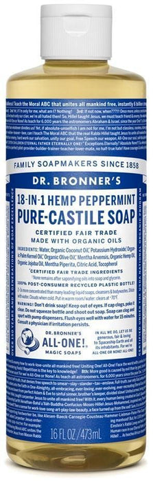 Dr. Bronner's Magic Soap Org Ppmnt Oil Pure Castile Soap Liq