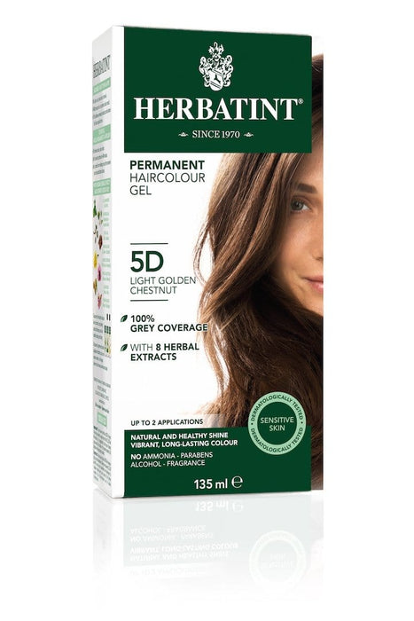 Herbatint Permanent Herbal Haircolor Gel - 5D Light Golden Chestnut