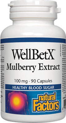 Natural Factors WellBetX Mulberry Extract 100mg, 90 Capsules