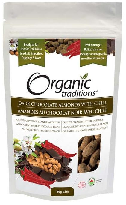 Organic Traditions Dark Chocolate Almonds with Chili