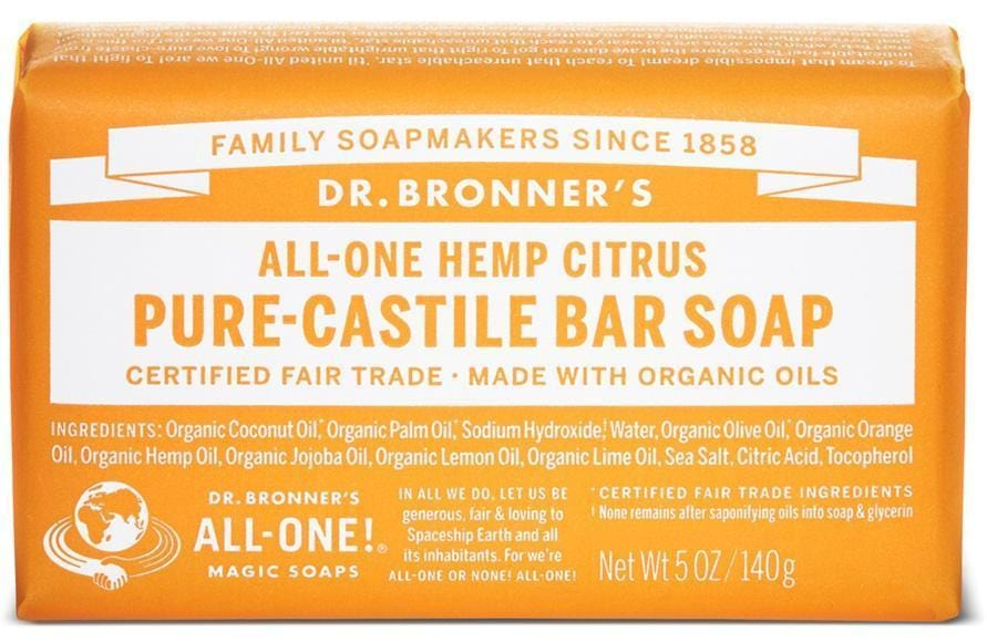 Dr. Bronner's Magic Soap Citrus Orange Castile Bar Soap