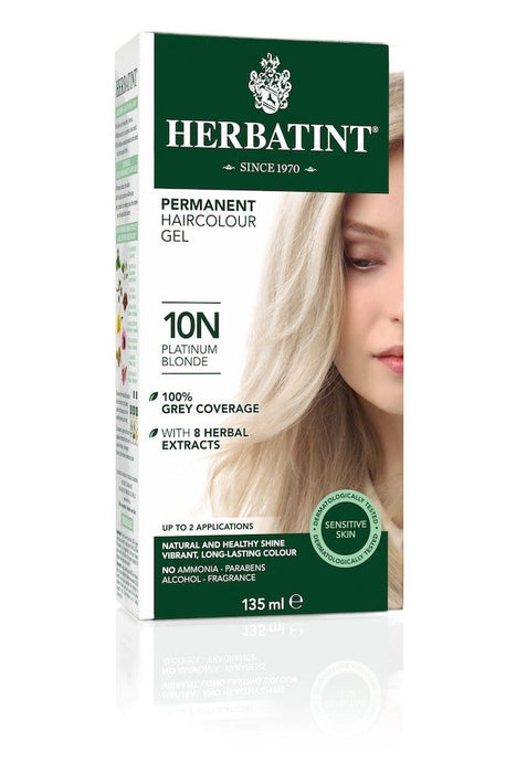 Herbatint Permanent Herbal Haircolor Gel - 10N Platinum Blonde