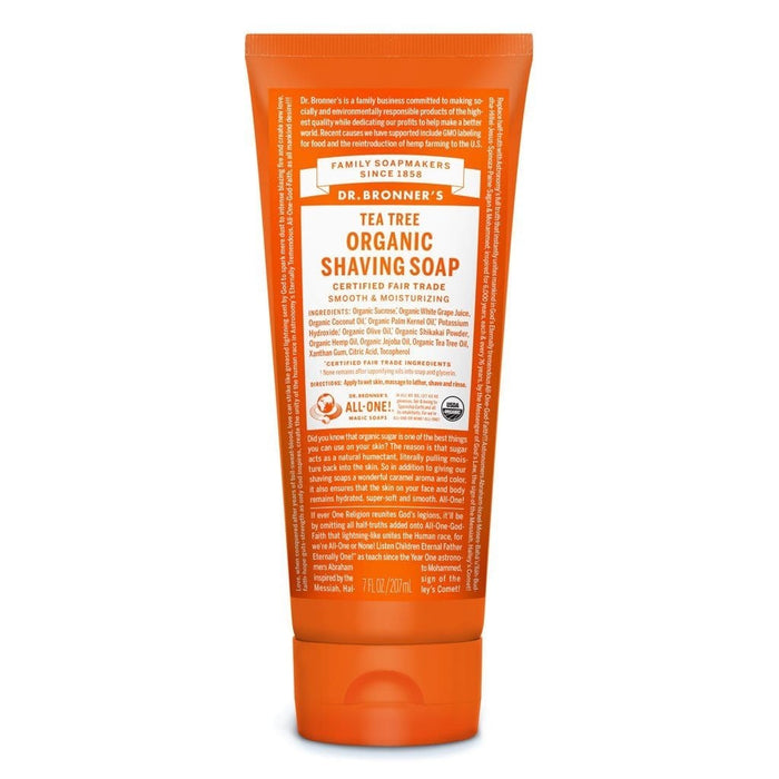 Dr. Bronner's Tea Tree Organic Shaving Soap