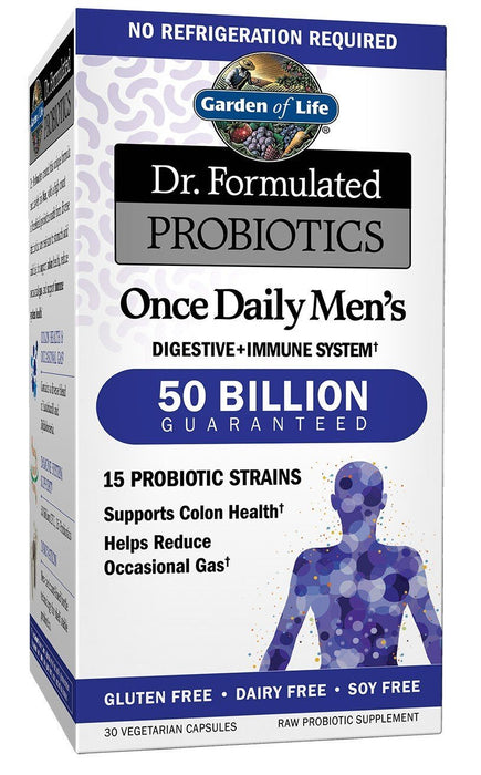 Garden of Life Dr. Formulated Probiotics Once Daily Men's 50 Billion CFU Shelf-stable