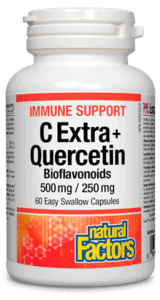 Natural Factors C Extra + Quercetin 60 Capsules