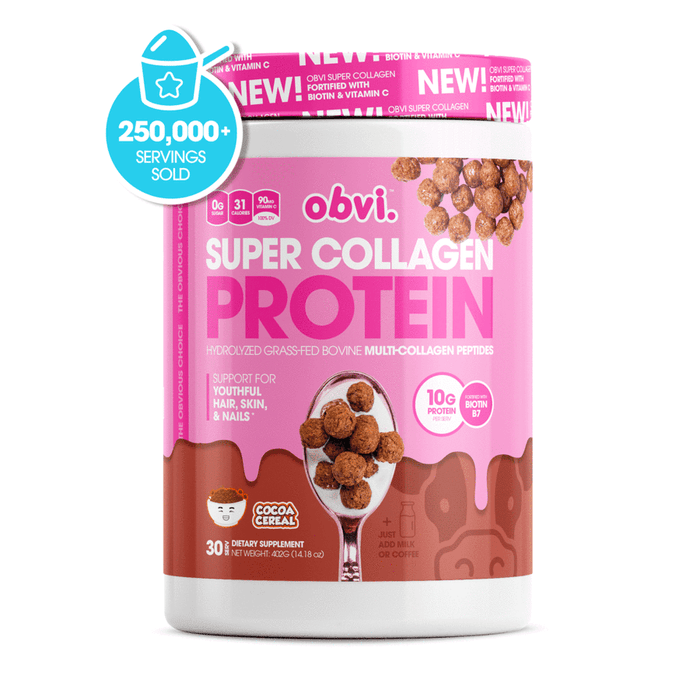 Obvi Super Collagen Protein Cocoa Cereal 30 Servings