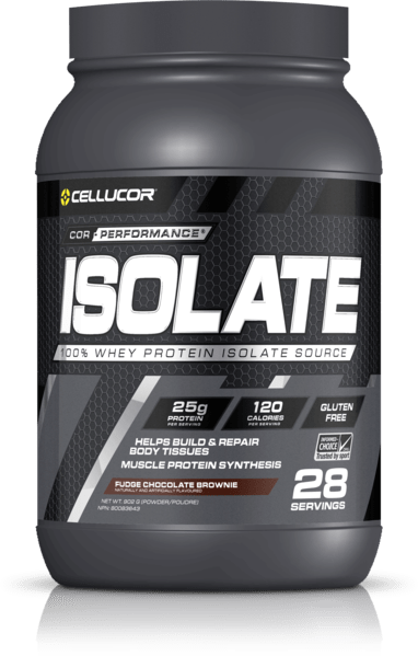 Cellucor Cor-Performance Isolate Whey Protein Fudge Chocolate Brownie 28 Servings