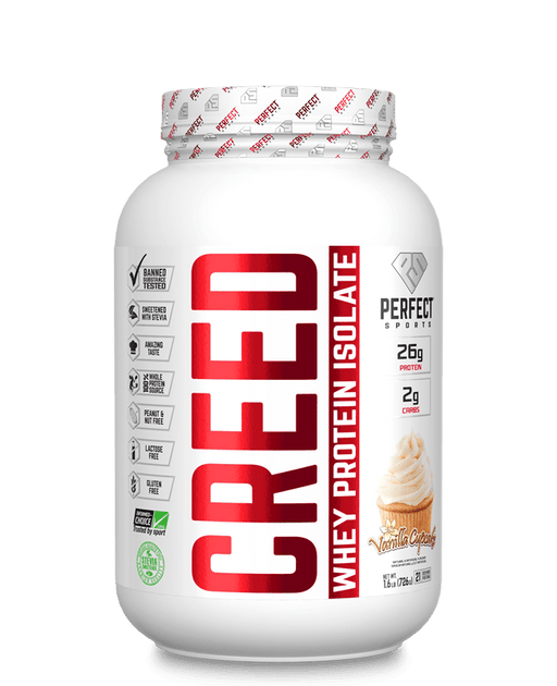 Perfect Sports Creed Whey Protein Isolate - Vanilla Cupcake 1.6 Lb (726 g)