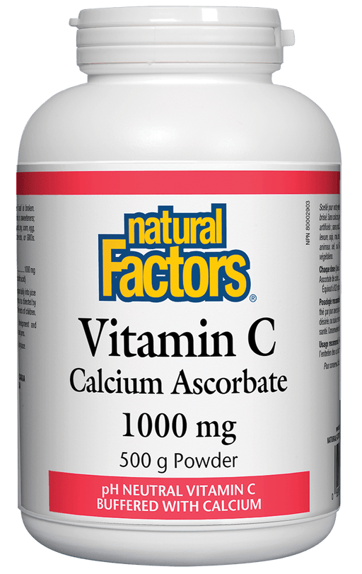 Natural Factors Vitamin C - Calcium Ascorbate Powder 500 g