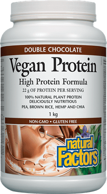 Natural Factors Vegan Protein - Double Chocolate