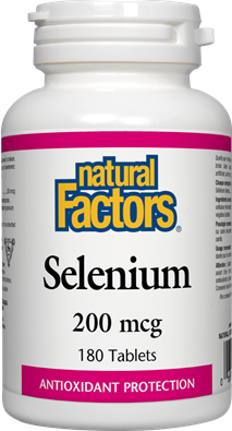 Natural Factors Selenium 200 mcg 180 Tablets