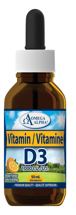 Omega Alpha Vitamin D3 1000 IU (Orange)
