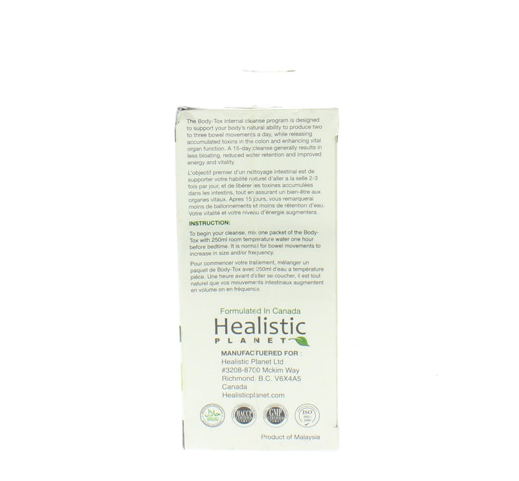 Healistic Planet Body-Tox 15-Day Cleansing Program Lemon Twist