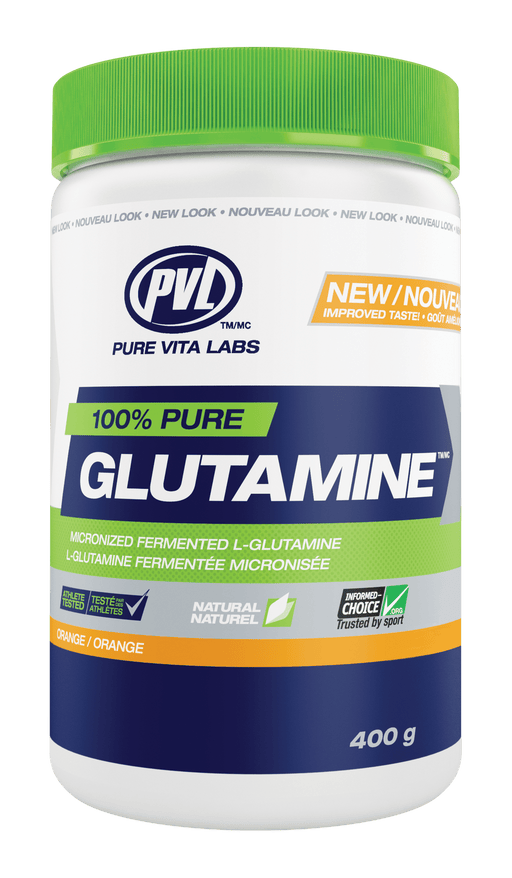 PVL Essentials 100% Pure Glutamine - Orange Flavour