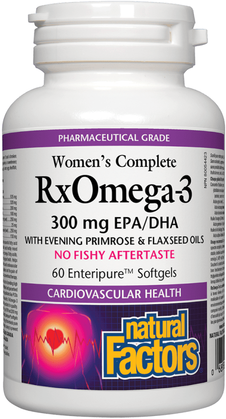 Natural Factors Women's Complete RxOmega-3 Factors, 60 Softgels
