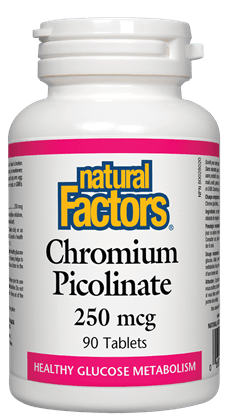 Natural Factors Chromium Picolinate 250 mcg