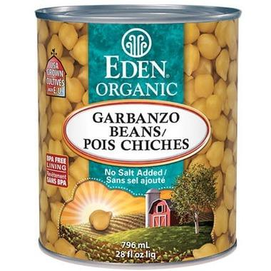 Eden Foods Organic Low Fat Canned Garbanzo Beans 796 ml