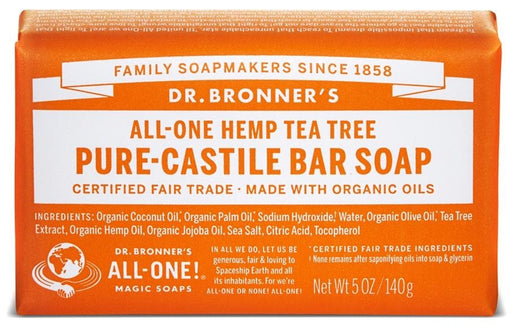 Dr. Bronner's Magic Soap Tea Tree Castile Bar Soap