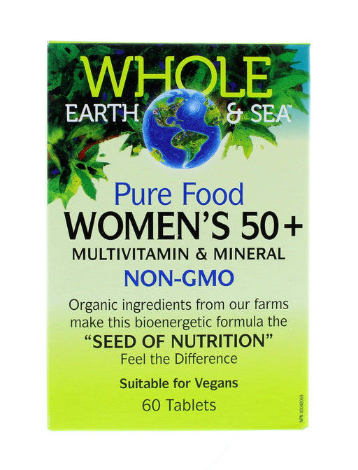 Whole Earth and Sea Woman's 50 plus, Multivitamin and Mineral 60 Tablets