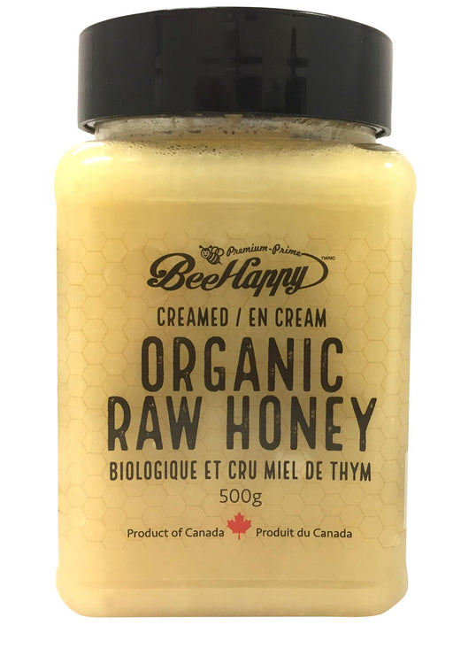 Bee Happy Creamed Organic Raw Honey
