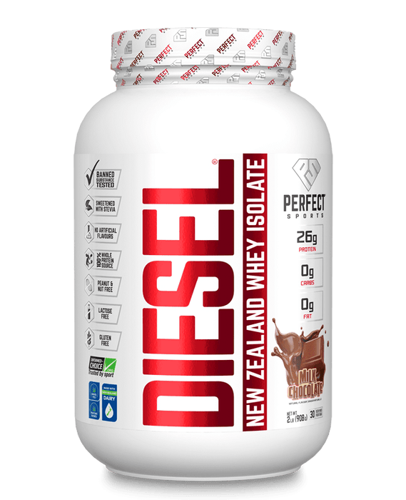 Perfect Sports Diesel New Zealand Whey Protein Isolate - Milk Chocolate 2 lb (908 g)