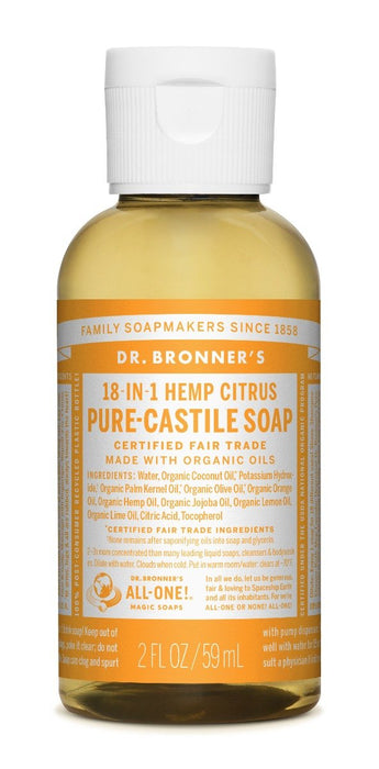 Dr. Bronner's Citrus Orange Liquid Soap 59 mL