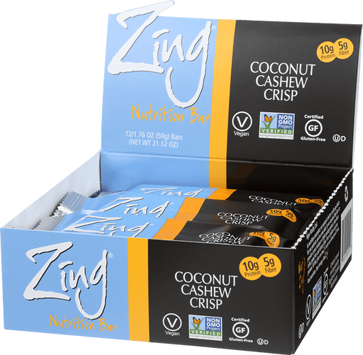 Zing Nutrition Bar - Coconut Cashew Crisp