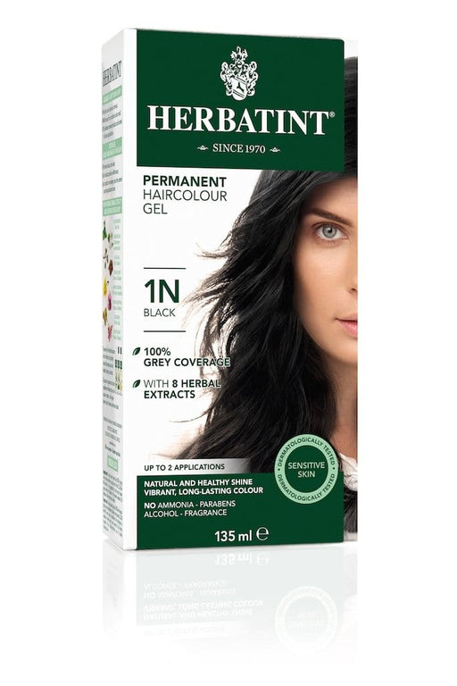 Herbatint Permanent Herbal Haircolor Gel - 1N Black