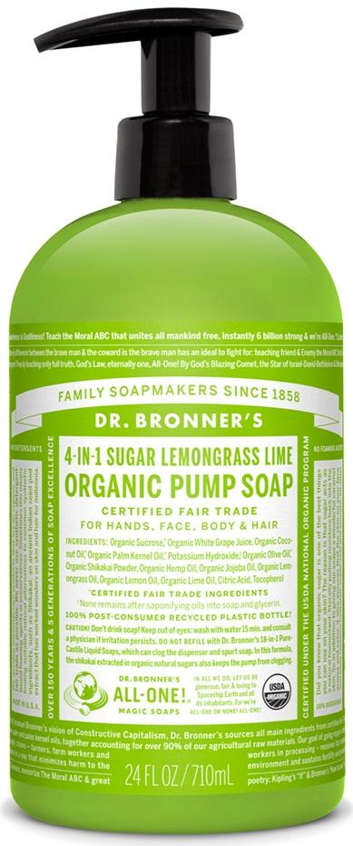 Dr. Bronner's Magic Soap Lemongrass Lime Body Soap