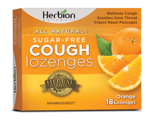 Herbion Naturals Cough Lozenges Sugar-Free Orange