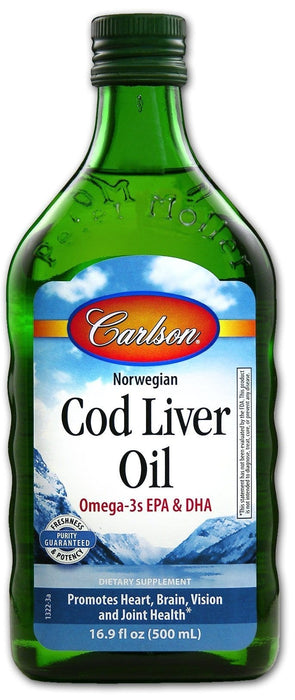 Carlson Laboratories Norwegian Cod Liver Oil 500 ml